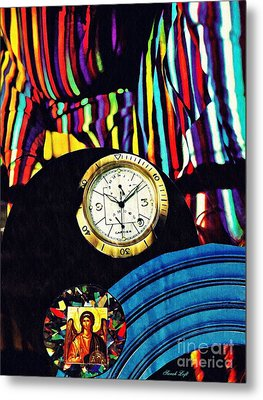 St Michael At The Gates Of Time Metal Print by Sarah Loft
