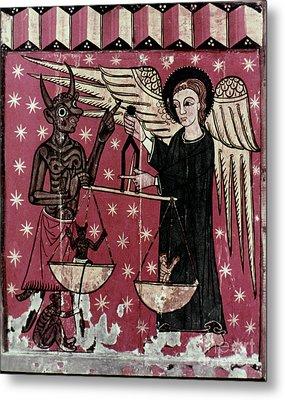 St. Michael Weighing Souls Metal Print by Granger