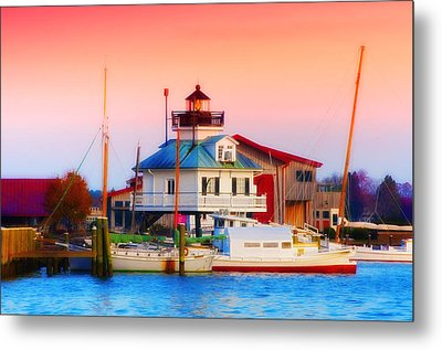 St. Michael's Lighthouse Metal Print by Bill Cannon