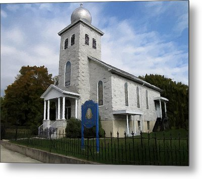 Metal Print featuring the photograph St Nicholas Church Saint Clair Pennsylvania by David Dehner