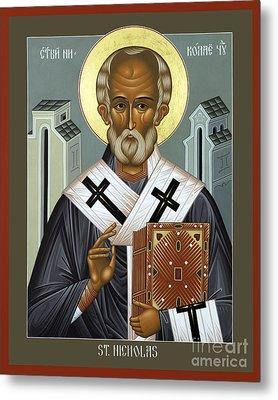 St. Nicholas Of Myra - Rlnic Metal Print by Br Robert Lentz OFM