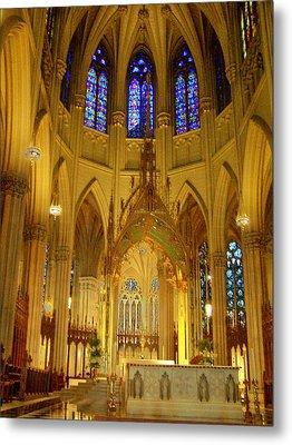 St Patricks Cathedral New York Metal Print by Vijay Sharon Govender