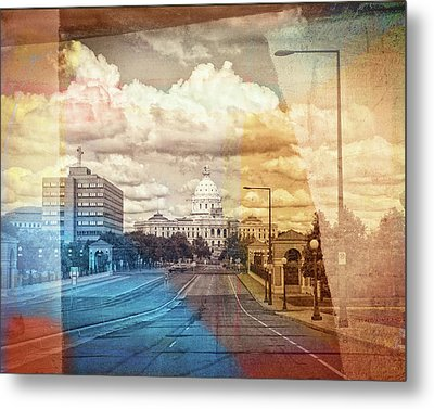 Metal Print featuring the photograph St. Paul Capital Building by Susan Stone