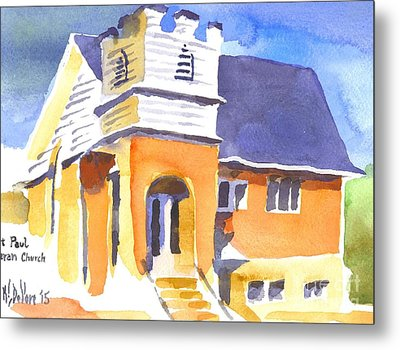 Metal Print featuring the painting St. Paul Lutheran 3 Impressions by Kip DeVore