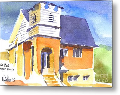 Metal Print featuring the painting St Paul Lutheran 3 by Kip DeVore