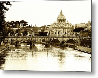 Metal Print featuring the photograph St. Peters Basilica by Mircea Costina Photography