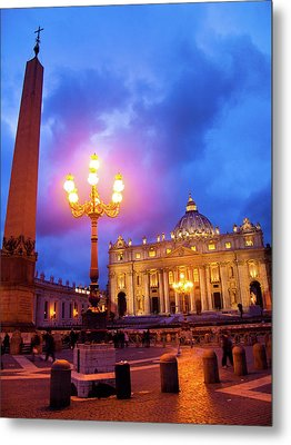 St. Peters Cathedral At Night Metal Print