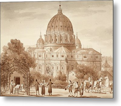 St Peters Seen From A Vineyard, 1833 Metal Print