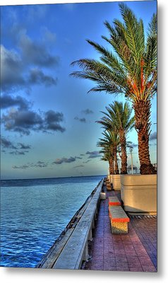 St. Petersburg Pier Tampa Bay Metal Print by Timothy Lowry