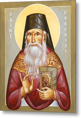 St Porphyrios Of Kavsokalyvia Metal Print by Julia Bridget Hayes