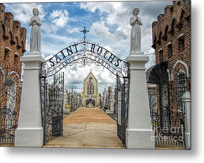Metal Print featuring the photograph St. Roch's Cemetery In New Orleans, Louisiana by Bonnie Barry