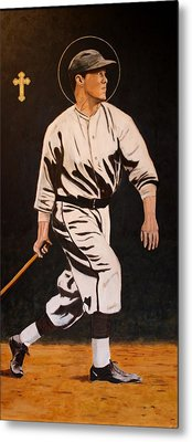 St. Sebastian Patron Of Athletes Metal Print by Ralph LeCompte
