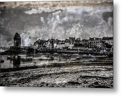 Metal Print featuring the photograph St Servan's Beach by Karo Evans