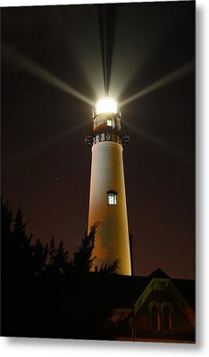 Metal Print featuring the photograph St Simons Island Lighthouse by Kathryn Meyer