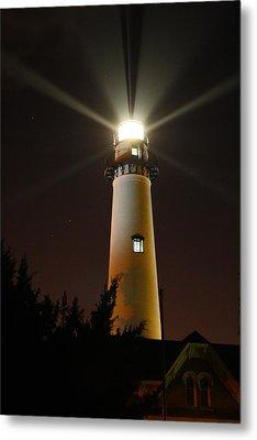 St Simons Island Lighthouse Metal Print by Kathryn Meyer