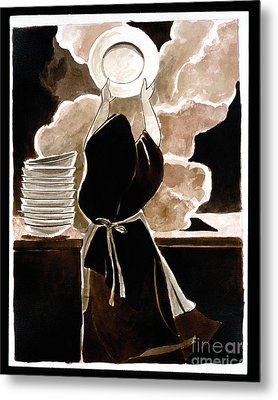 St. Therese Doing The Dishes - Mmdtd Metal Print
