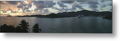 St. Thomas At Dusk Metal Print by Gary Lobdell
