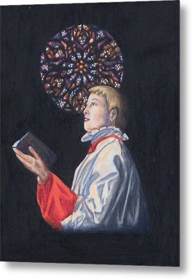St. Thomas Episcopal Nyc Choir Boy Metal Print by Laurie Tietjen