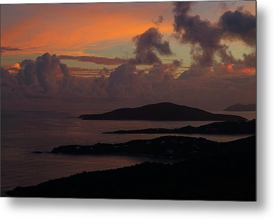 Metal Print featuring the photograph St Thomas Sunset At The U.s. Virgin Islands by Jetson Nguyen