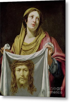 St. Veronica Holding The Holy Shroud Metal Print by Simon Vouet