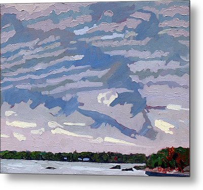 Stable Layer Metal Print by Phil Chadwick