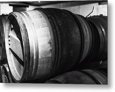 Stacked Barrels Metal Print by Georgia Fowler
