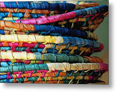 Stacked Baskets Metal Print by Gwyn Newcombe