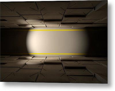 Stacked Boxes Warehouse Metal Print by Allan Swart