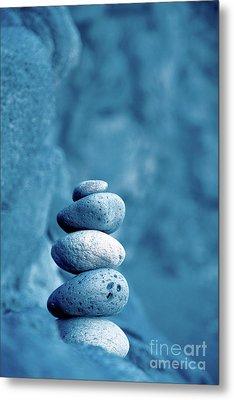 Stacked Pebbles Metal Print by Gaspar Avila