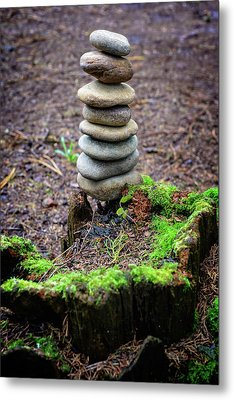 Metal Print featuring the photograph Stacked Stones And Fairy Tales II by Marco Oliveira