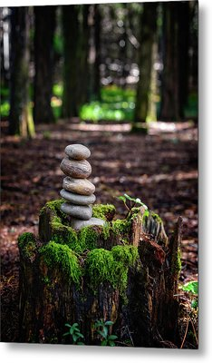 Metal Print featuring the photograph Stacked Stones And Fairy Tales IIi by Marco Oliveira