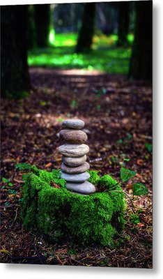 Metal Print featuring the photograph Stacked Stones And Fairy Tales Iv by Marco Oliveira