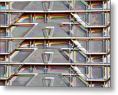 Stacked Storage Crates Abstract Metal Print