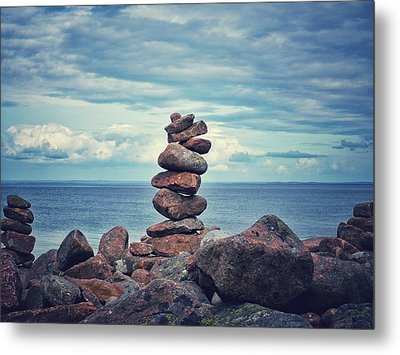 Stacked Zen Metal Print by Karen Stahlros