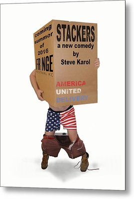 Stackers Poster Metal Print