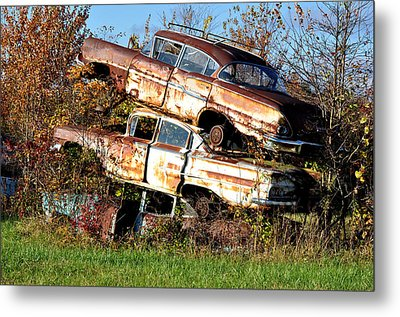 Stacking Them Up Metal Print by Jan Amiss Photography