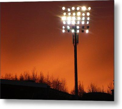 Stadium Lights Metal Print