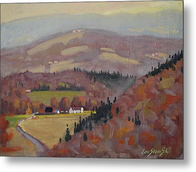 Stafford Hill From The Glen 2 Metal Print by Len Stomski