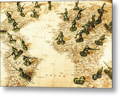 Staged World War Metal Print