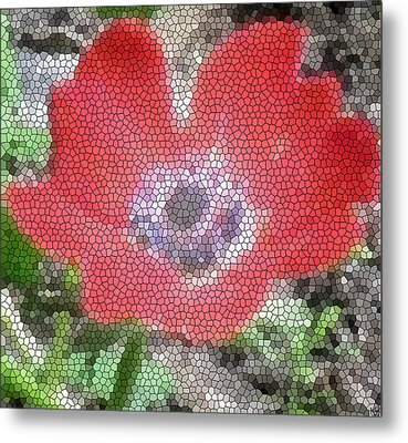 Metal Print featuring the photograph Stain Glass Anemone by Debra     Vatalaro