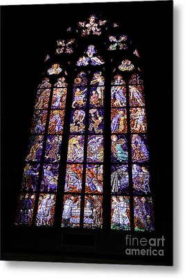 Stain Glass Window Metal Print by Madeline Ellis