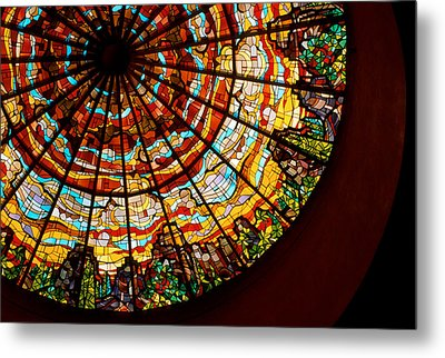 Stained Glass Ceiling Metal Print by Jerry McElroy