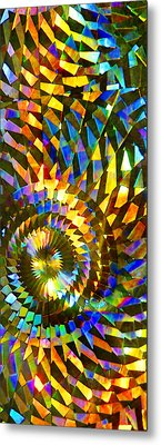 Stained Glass Fantasy 1 Metal Print by Francesa Miller