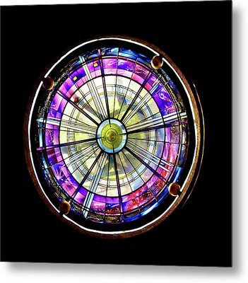 Stained Glass Metal Print by John Hix