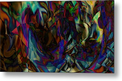 Stained Glass Metal Print by Joshua Sunday