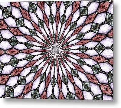 Stained Glass Kaleidoscope 2 Metal Print by Rose Santuci-Sofranko