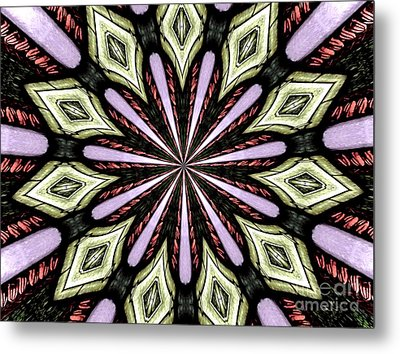 Metal Print featuring the photograph Stained Glass Kaleidoscope 25 by Rose Santuci-Sofranko