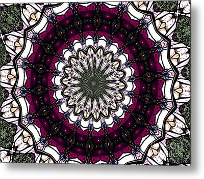 Metal Print featuring the photograph Stained Glass Kaleidoscope 4 by Rose Santuci-Sofranko