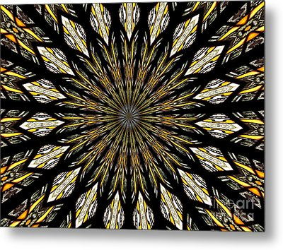 Metal Print featuring the photograph Stained Glass Kaleidoscope 5 by Rose Santuci-Sofranko