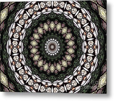 Stained Glass Kaleidoscope 6 Metal Print by Rose Santuci-Sofranko